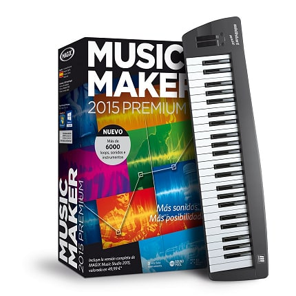 MAGIX Music Maker 2015 Control, software de edición musical barato, ofertas en software de edición musical