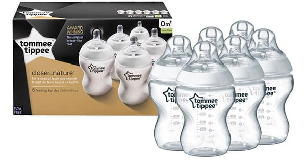 Pack 6 biberones Tommee Tippee Closer to Nature, biberones baratos, ofertas en biberones, chollo