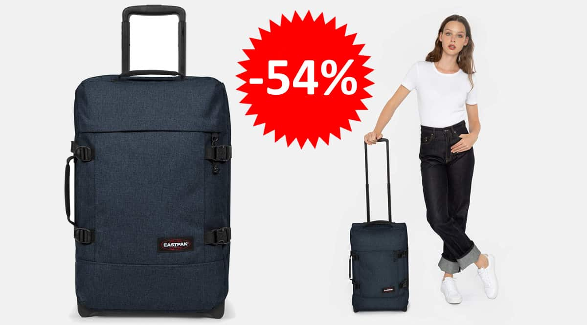¡¡Chollo!! Maleta Eastpak Tranverz S sólo 59 euros. 54% de descuento.