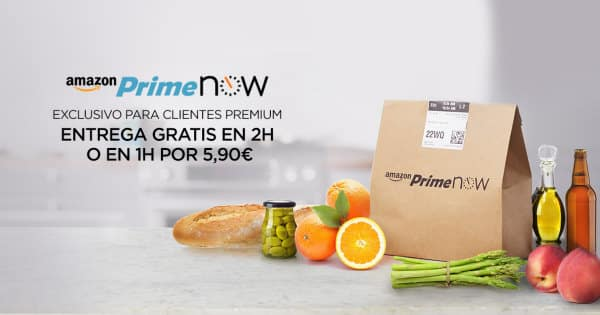 Nuevo servicio Amazon Prime Now en Madrid, envíos en 2 horas con Amazon, envíos en 1 hora con Amazon, chollo