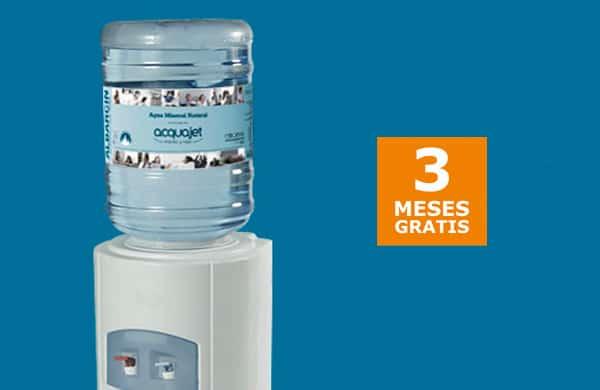 3 meses de agua gratis con Acquajet, agua a domicilio barata, fuentes de agua baratas