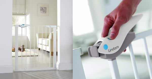 Barrera de seguridad Lindam Easy Fit Plus Deluxe barata, ofertas en barreras de seguridad chollo