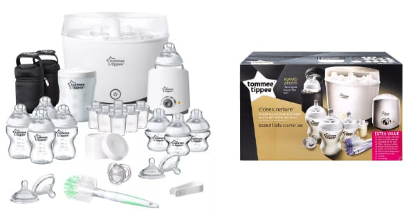Kit starter completo Tommee Tippee Closer to Nature barato, productos de bebe baratos, regalos para bebes baratos chollo