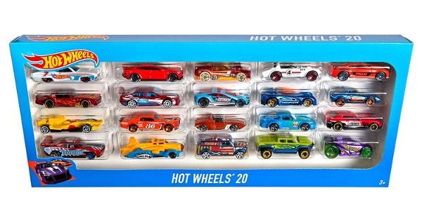 Pack 20 vehiculos Hot Wheels barato, juguetes baratos, ofertas en juguetes chollo