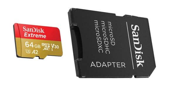 Tarjeta de memoria MicroSDXC SanDisk Extreme barata, ofertas en tarjetas de memoria, tarjetas de memoria baratas, chollo