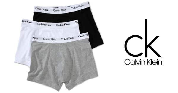 Pack de 3 bóxer Calvin Klein baratos, calzoncillos de marca baratos, ofertas en calzoncillos, chollos