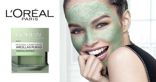 Mascarilla purificante Arcillas Puras de L'Oréal Paris barata, cremas baratas, ofertas en cosmeticos chollo