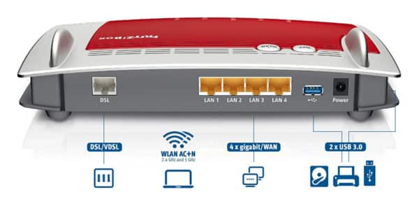 Módem-router AVM Fritz!Box 3490. Ofertas en routers, routers baratos, chollo