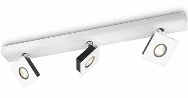 Barra de tres focos de luz LED Philips Ledino, lámparas baratas, chollo