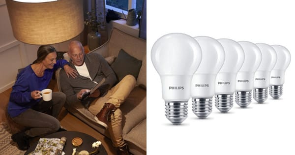 Pack de 6 bombillas LED Philips 8W. Ofertas en bombillas LED, bombillas LED baratas, chollo