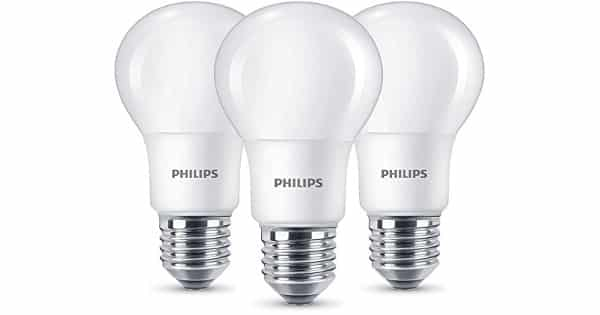 Pack de bombillas LED Philips E27 8W baratas, bombillas LED baratas, chollo