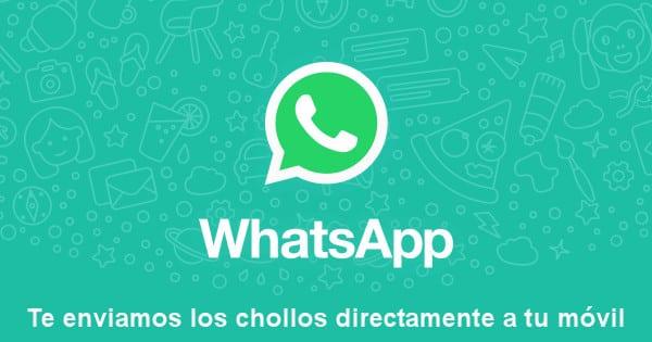 Recibe nuestros chollos por Whatsapp