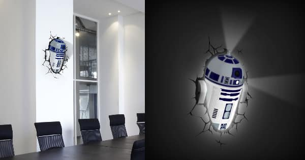 Lámpara LED 3D Star Wars R2-D2 barata, lámparas LED baratas, chollo