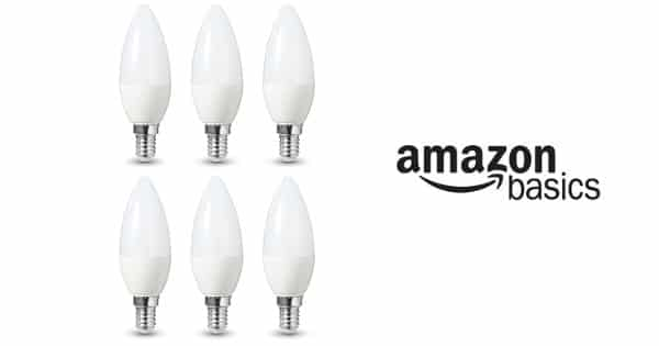 Pack de 6 bombillas AmazonBasics LED de 5.5W baratas, bombillas LED baratas, chollo