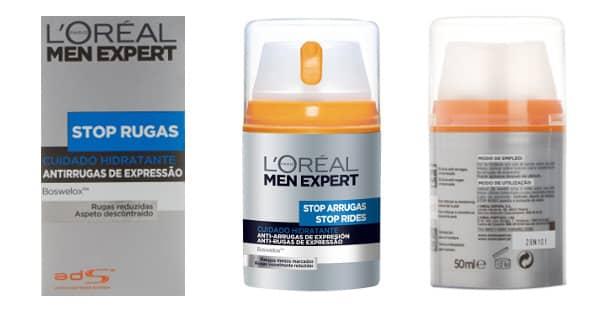 Crema Hidratante L'Oréal Men Expert Stop Arrugas baratas, cremas baratas, ofertas en cremas chollo