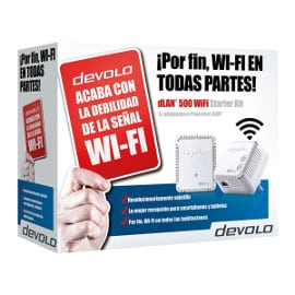 Kit de 2 adaptadores PLC Devolo dLAN 500 WiFi Starter Kit barato, adaptadores WiFi baratos