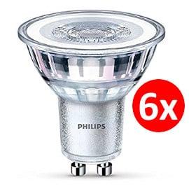 Pack de 6 bombillas LED Philips GU10 barato. Ofertas en bombillas LED, bombillas LED baratas