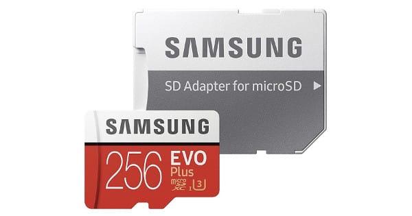 Tarjeta de memoria MicroSD Samsung EVO Plus de 256GB barata, tarjetas de memoria baratas, chollo