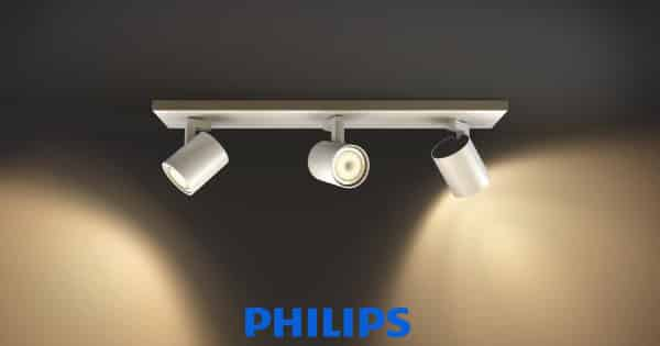 Foco LED Philips Hue White Runner triple barato, lámparas baratas, chollo