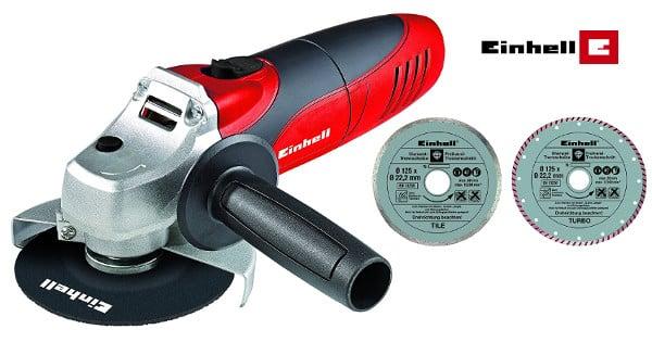 Kit amoladora Einhell TC-AG 125 de 850W barata, herramientas baratas, chollo