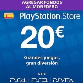 Tarjeta prepago de 20 euros para PlayStation Store barata, tarjetas prepago Playstation Store baratas