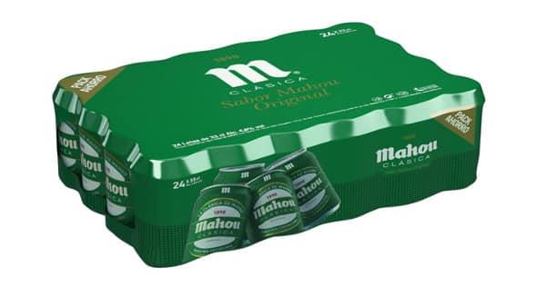 24 latas de cerveza Mahou Clásica baratas. Ofertas en cerveza, cerveza barata,chollo