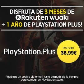3 meses de Rakuten TV + 12 meses de Playstation Plus barato