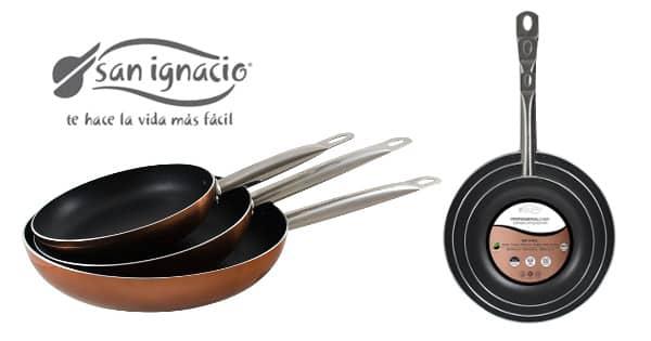 Set de 3 sartenes San Ignacio baratas, sartenes baratas, ofertas en sartenes chollo
