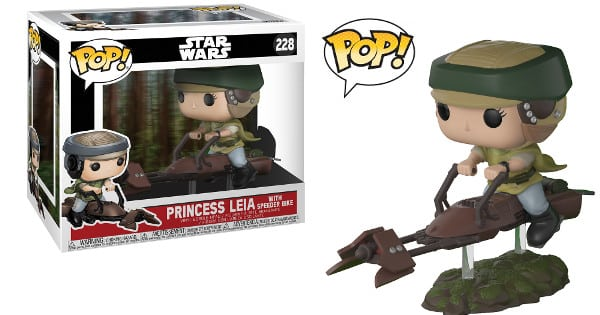 Figura Funko Pop Star Wars Leia en Speeder Bike barata, funkos baratos, chollo