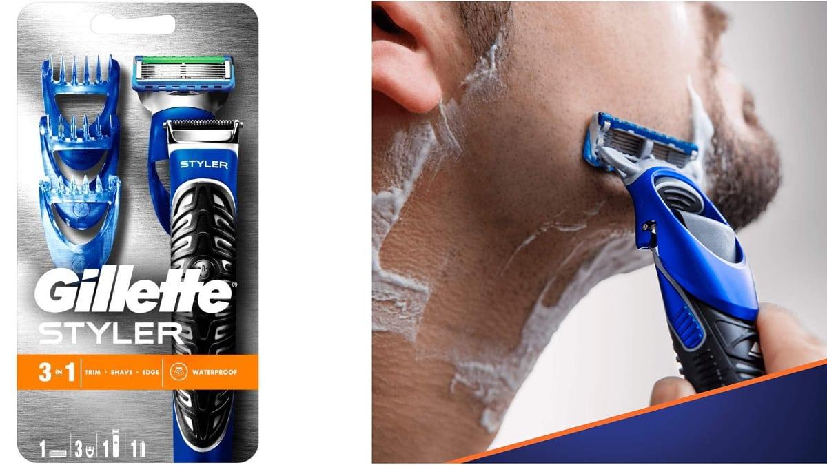 Maquinilla multiusos Gillette Fusion ProGlide Styler barata, maquinillas de afeitar de marca baratas, ofertas supermercado, chollo