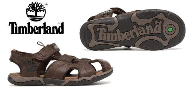Sandalias de cuero para niños Timberland Oak Bluffs Leather Fisherman barata, sandalias baratas, chollo
