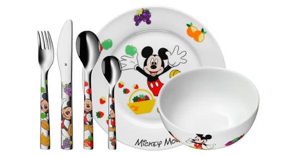 Vajilla infantil de 6 piezas Mickey Mouse WMF barata, vajillas baratas, chollo