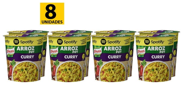Pack de 8 arroz pot al curry de Knorr baratos, productos de supermercado baratos, chollo