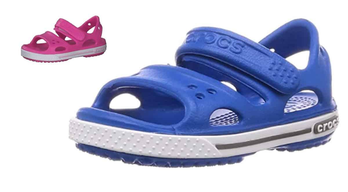 Sandalias infantiles Crocs Crocband Sandal II baratas, sandalias de marca baratas, ofertas en calzado para niño, chollo