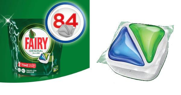 Lavavajillas en cápsulas Fairy Original Todo en 1, 84 unidades barato, lavavajillas barato, ofertas en supermercado, chollo