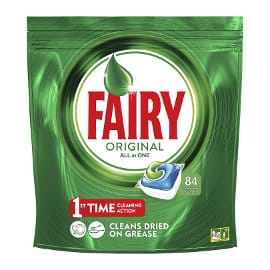Lavavajillas en cápsulas Fairy Original Todo en 1, 84 unidades barato, lavavajillas barato, ofertas en supermercado