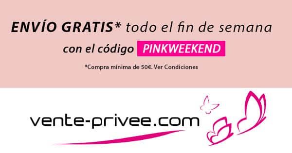Pinkweekend en vente-privee barato, ropa de marca barata, ofertas en calzado chollo