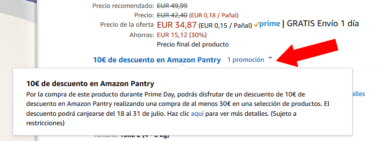 Promoción Pantry Amazon Prime Day 2018