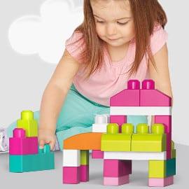 Juego de construcción de 60 piezas Mega Bloks barato, juguetes baratos