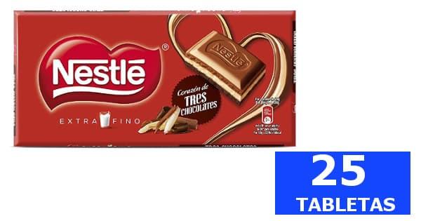 Chocolate Nestlé corazon 3 chocolates barato, chocolates baratos, ofertas en supermercado chollo