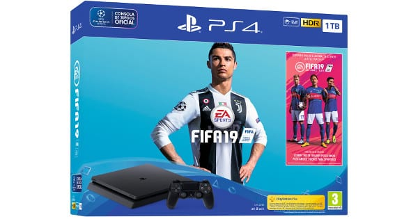 Pack Playstation 4 + Fifa 19 barato, consolas baratas, chollo