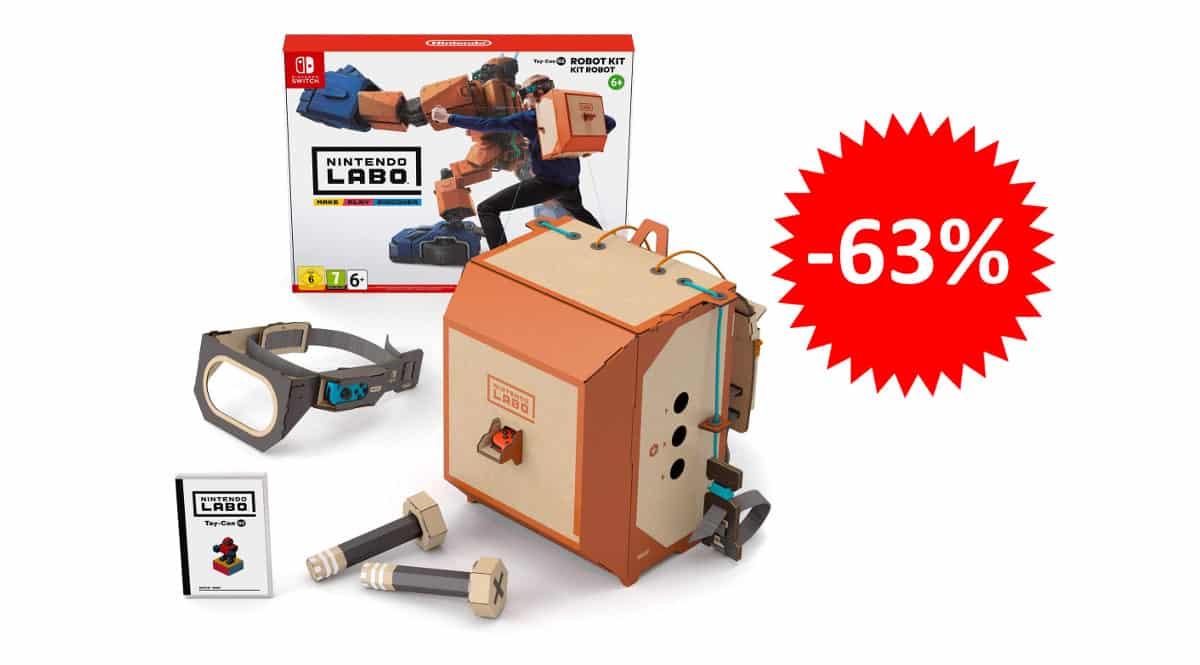 ¡¡Chollo!! Nintendo Labo Toy-Con de robot para Nintendo Switch sólo 29.90 euros. 63% de descuento.