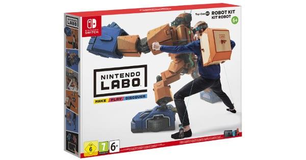Nintendo Labo Toy-Con de robot para Nintendo Switch barato, videojuegos baratos, chollo