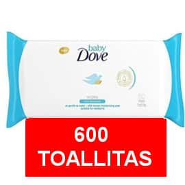 Pack de 600 toallitas Baby Dove hidratación profunda barato, toallitas bebé baratas, ofertas en supermercado