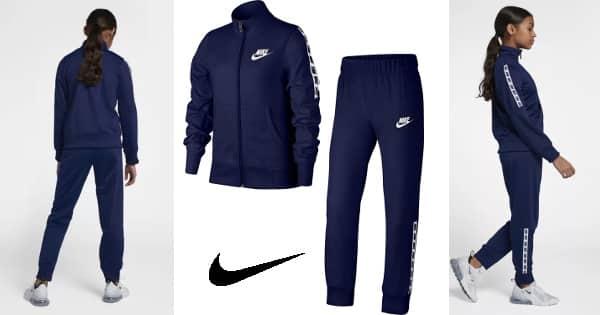 Chándal para niña Nike barato, ropa para niños barata, ofertas en ropa de marca infantil, chollo
