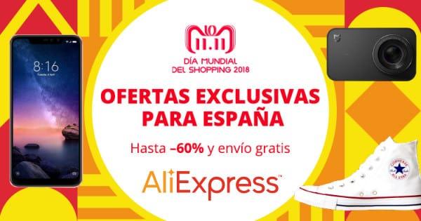 Día Mundial del Shopping 11.11.2018 en Aliexpress, ofertas en Aliexpress, chollo