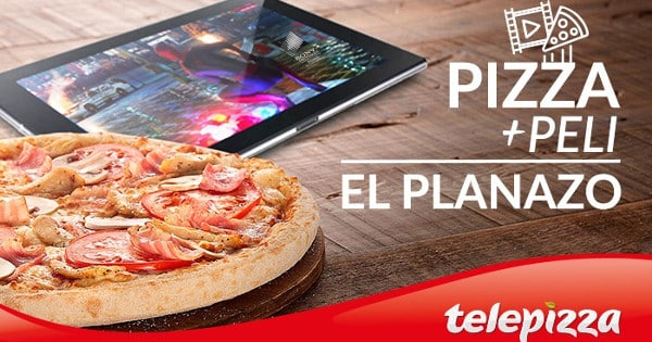 Pizza + peli Telepizza, chollo