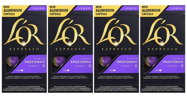40 cápsulas de café L'Or Espresso Lungo barato, cápsulas de café baratas, chollo