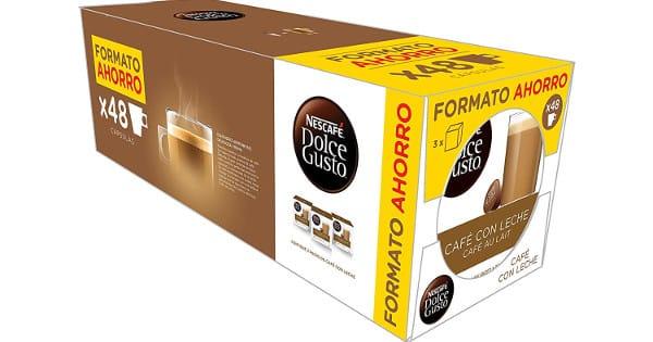 48 cápsulas de Café Dolce Gusto café con leche baratas, cápsulas baratas