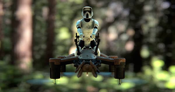 Drone Speeder Bike 74-Z Star Wars barata, drones baratas, chollo